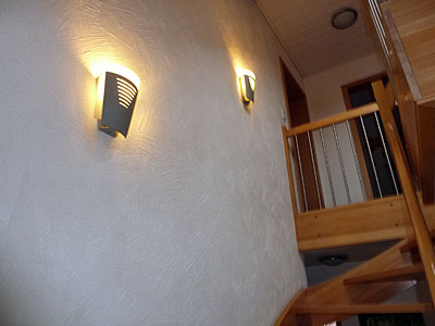 Before: Stairway with Lamps